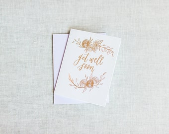 Get Well Soon with Florals Greeting Card