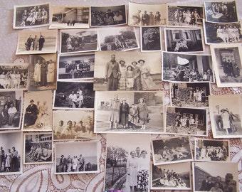 34 Vintage Photographs Groups People Fashion Gatherings Men & Women 1920-1950