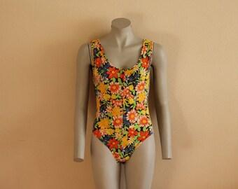 Women's Leotard Floral Print Gymnastics Leotard Flower Bodysuit Dancing Shirt Dancewear Dance Costumes