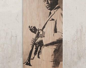 Miles Davis - Legend of Black Music / / Transfer on wood
