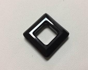 4439 Swarovski® 20mm Square - Jet