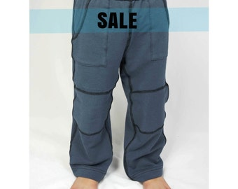 TAYLOR// Kids ultra soft bamboo pants, SALE, toddler clothes, sensory friendly, grey pant with pockets, 2t 3t 4t 5t