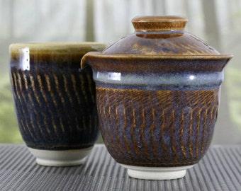 Houhin and Teabowl Nr. 106 - Tenmoku Glaze
