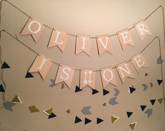 Custom Birthday Banner   Personalized Banner   First Birthday   One   One Banner   Birthday Name Sign   Birthday Sign   Hand Painted