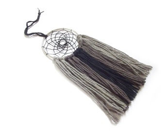Black Dream Catcher Gray Dream Catcher Black Dreamcatcher Gray Dreamcatcher Small Dream Catcher Yarn Wall Hanging Nursery Decor Crib Mobile