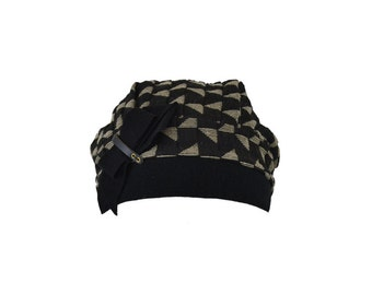 SALE 30% OFF : Tanka black - Women's hat - La Tribu des Oiseaux