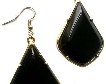Renetta's Black Mirror Earrings
