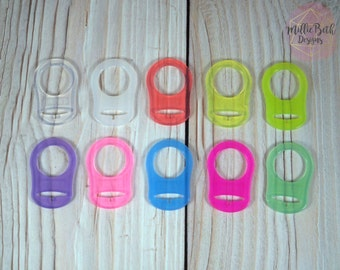 MAM NUK Adapter | Button Pacifier Adapter | Silicone Paci Adapter | Dummy Pacifier Binkie Ring | Pacifier Holder | MAM Ring | Add on
