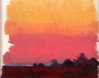 Marshland Sunset 03 - Landscape Study