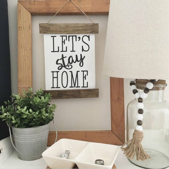 Canvas Banner |Wood Sign | Home Decor | Gallery Wall Sign | Hanging Sign | Fixer Upper Style | Farmhouse Decor