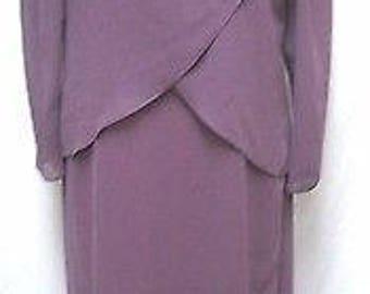 Ursula Switzerland Vintage Chiffon drape dress formal occasion Size Sz 12