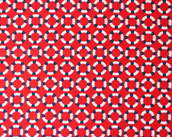 Shore Thing by Emily Herrick for Michael Miller Fabrics - Red Lifesaver - Sold by the yard