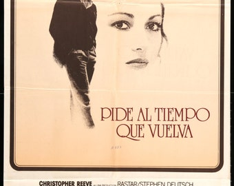 "Somewhere in Time (1980) Vintage Argentine Movie Poster - 29"" x 44"""