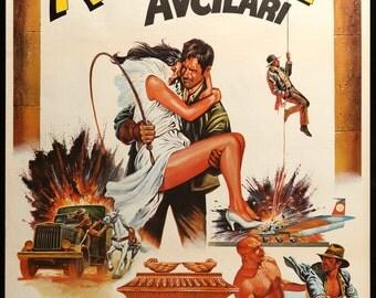 "Raiders of the Lost Ark (1981) Original Turkish Movie Poster 27"" x 40"""