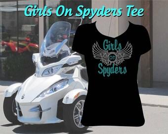 Girls on Spyders Rhinestone Shirt