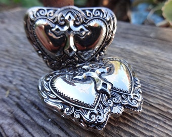 Western Silver Show Cross heart Concho Leather Horse Bridle  Repair