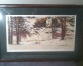 """SALE:  David Armstrong Signed Print! - """"In Good Standing"""" - Matted and Framed"""