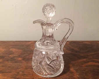 Blown and Pressed Glass Cruet