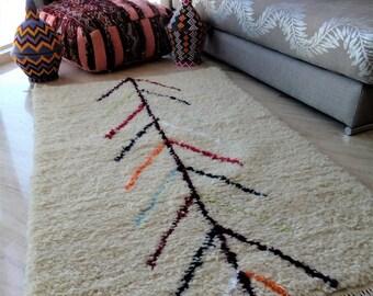 Berber Beni Ouarain carpets with colorful designs - handmade