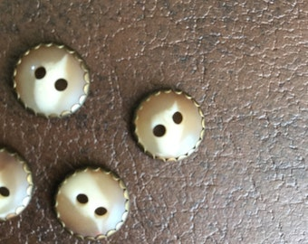 Vintage buttons, tortoiseshell and brass buttons, vintage button, unique buttons, vintage sewing, vintage crafting, vintage crafts, buttons