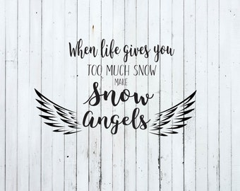 Christmas svg, snow angels svg, merry christmas svg, christmas svg files, merry christmas y'all svg, winter svg, christmas cut files,