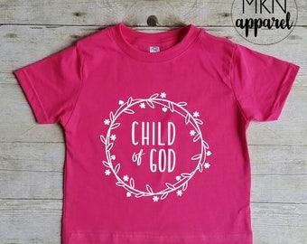 Child of God Shirt, Cute Jesus Shirt, Toddler Christian Shirt,Youth Christian Shirt,
