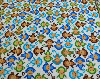 Urban Zoologie-Royal-Monkeys Cotton Fabric by Robert Kaufman