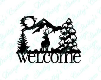 Welcome Elk Wall Decal, Vinyl Wall Art, Wall Art Decals, Welcome Decal, Decorative Wall Decals, Cool Wall Decals, Welcome Stickers