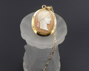 Antique Cameo Necklace, Victorian Grecian Cameo, Antique Greek Cameo, Victorian Cameo Necklace