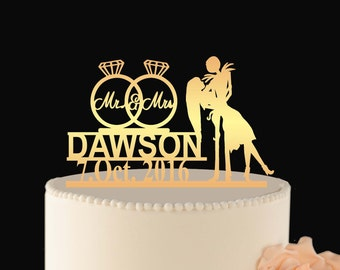 Jack sally Wedding Cake Topper, Wedding cake topper, jack sally wedding, wedding decor jack and sally, Wedding Topper jack sally L2-02-003
