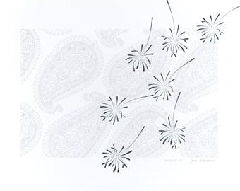 Kunst Stencil Art Papier FERNREISE