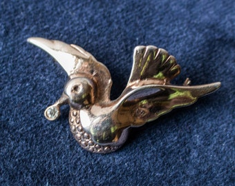 Sterling Silver Bird Pin (Brooch)