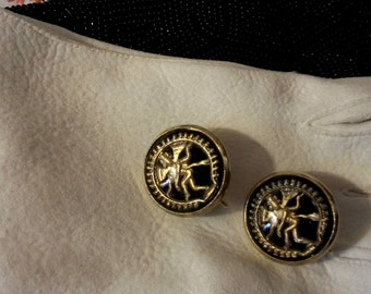 Vintage Sarah Coventry Hindu Goddess Earrings, Indian Goddess earrings , Sarah Cov clip on earrings-BB6
