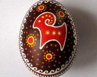 Ukrainian Pysanka Easter Egg FREE Shipping Traditional Trypillya Pysanka Hand Painted Easter Egg Easter Decorations Ukrainian Egg Gift