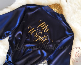 Bridesmaid Gift, Bridesmaid Robes, Bride Robe, Personalized Robes, Bridal Shower Gift, Wedding Gift, Glitter Print Robe, Getting Ready Robe