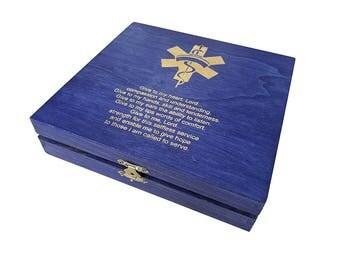 Nurse Prayer Keepsake Box - Nurse Graduation Keepsake Box Gift - RN Gradudution Gift