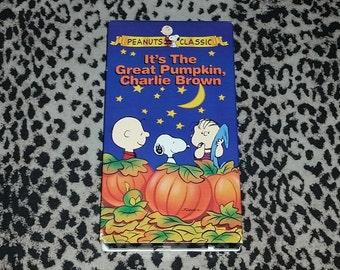 It's The Great Pumpkin Charlie Brown [VHS] Peanuts Vintage Halloween Special Animation Vhs Cartoon Vintage Halloween