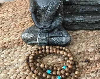 Mala Bead necklace, mala bead bracelet , meditation jewelry, Sandalwood Mala, meditation necklace, zen jewelry, mala, prayer beads, 108