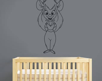 Chip and Dale Wall Sticker Gadget Hackwrench Vinyl Decal Cartoon Art Disney Decorations for Home Cute Mouse Kids Room Nursery Decor cnp3
