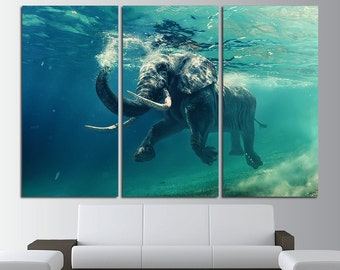 Elephant Wall art Elephant art Elephant canvas Elephant poster Elephant print Elephant photo Elephant wall decor Large Wall Art Large Canvas