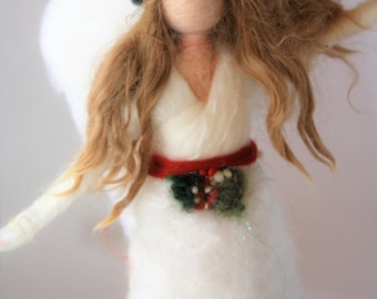 Needle Felted Angel Christmas Tree Topper-Ready to Ship!!