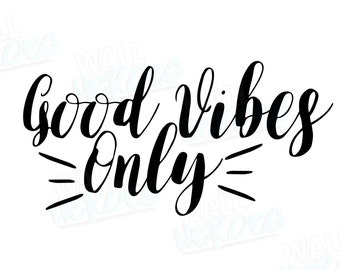 Good Vibes Car Decal | Car Decal | Window Decal | Good Vibes Decal | Car Quote Decal | Good Vibes Only