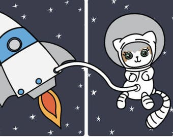 Mauly in Space - 2 page mini kit