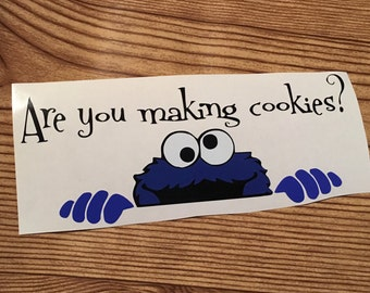 Kitchen Aid Mixer Decal, Cookie Monster Are You Making Cookies? Kitchenaid Decal