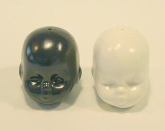 Doll Head Salt & Pepper Shakers