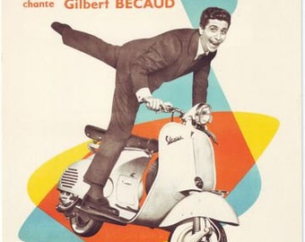 1960's Vespa Scooter French Advertising Poster A3 / A2 Print