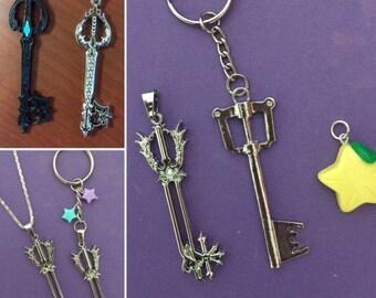 Kingdom Hearts Keyblade necklace, kingdom hearts necklace, Kingdom Hearts Oathkeeper, Necklace, Oathkeeper Key Chain, Kairi Keyblade