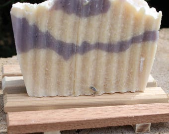 Lavender Peach Goats Milk Handcrafted Soap Bar
