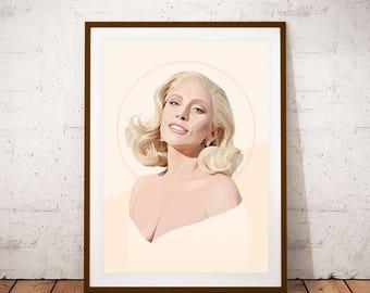 Lady Gaga illustration Poster