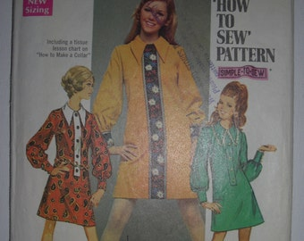 Vintage Simplicity Sewing Pattern Doll Style Dress/Kawaii/Valley of the Dolls/Manga/Japanese Style